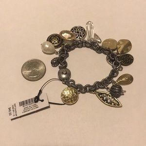 Chico's charm bracelet NWT